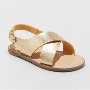 Summer Gold Sandals 🎀